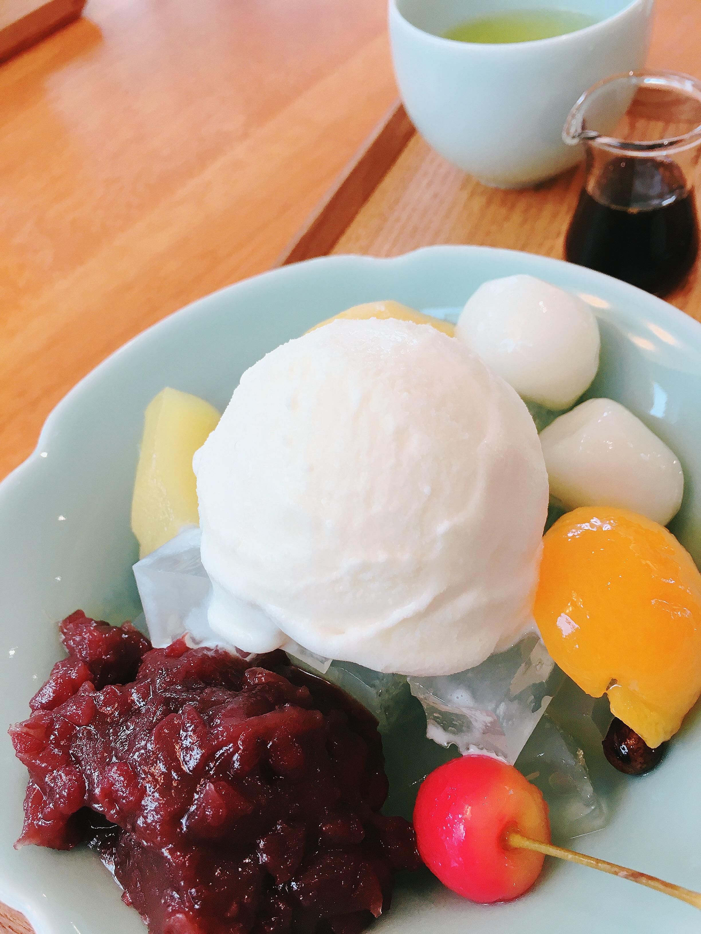 【御殿場】田子の月、和カフェ。あんみつ最高です。